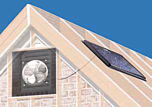 Solar Powered Attic Fan Gable Mount 30w W Fixed Thermostat