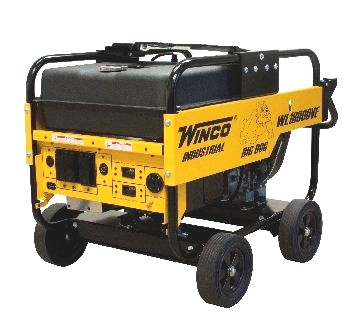 Winco 12000 Watt Generator, Gasoline Powered, w/CS6369 - Winco WL12000HE-CP 12000 Watt Industrial Grade Generator, 20HP Honda GX630 Engine, 15G Gas Tank. Includes 4-Wheel Kit and CS6369 Twist/Lock 50A Main Recepticle. Price/Each. (battery additional; see detail view for ordering notes)