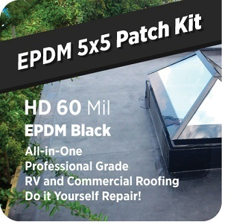 Epdm 5x5 Roof Patch Kit 60 Mil Black