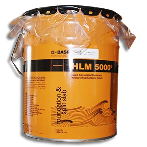 Sonoshield HLM 5000 ROLLER Grade Waterproofing (5G) - SONOSHIELD HLM5000R ROLLER GRADE (roll on) WATERPROOFING, 5 GALLON PAIL. PRICE/PAIL. (36 pails/pallet; Ground Shipment Only; BASF #51677002)