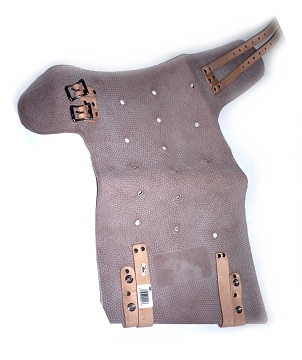 Roofers Hip Pad, SPECIFY Right / Left Fit - # 034-499 Roofers Hip Pad. Molded Rubber with Leather Leg Straps, Heavy Duty Hardware. Price/Each. (specify RIGHT or LEFT leg before adding to cart)