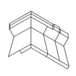 Fry Reglet Inside Corner Flashing Reglet Galv 1