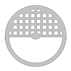 Zurn 54069 4 7 3 16 X 1 4 Inch Flat Round Drain Grate 1