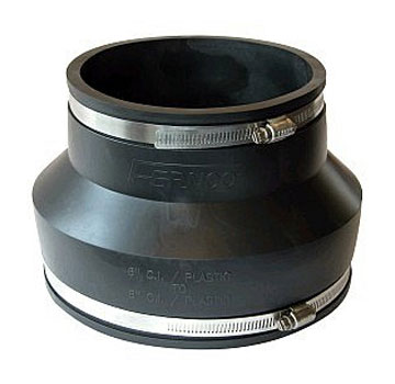 Drain Coupling 3 To 2 In Straight Adaptor Pvc Rubber